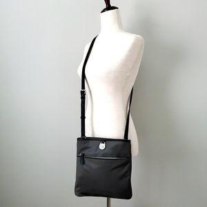 Michael Kors Gray & Black Nylon Crossbody Bag